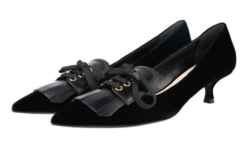 Prada 5 39 Pumps Nuovo 6 Black Luxury Shoes 1i135h Velvet 5 40 UK 6q7d0d