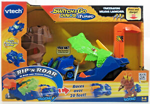 VTech Switch & Go Dinos Turbo Triceratops Deluxe Launcher Ages 3-8 NEW!