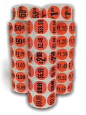 Pricing Labels Brred 15 Circle 1000 Stickers Per Roll 10 Prices Available