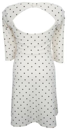 Envie de Fraise Maternity Spotty Alexandra Dress Cream