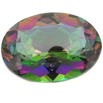 10x8 MM Oval Cut Topaz Rainbow Color