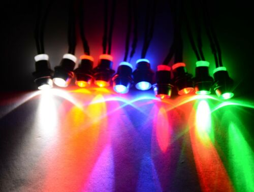 RC LED LIGHT KIT 2W2R2B2G2Y 5mm Super Bright 10 LEDs Total for your RC