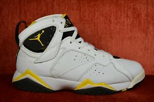 2196c5a22ac26f CLEAN Nike Air Jordan Retro VII 7 Size 9 WHITE BLACK MAIZE YELLOW ...