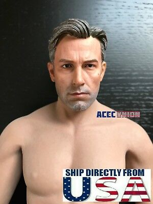1//6 Ben Affleck Batman Head Sculpt PHICEN M31 Seamless Male Muscular Figure Set