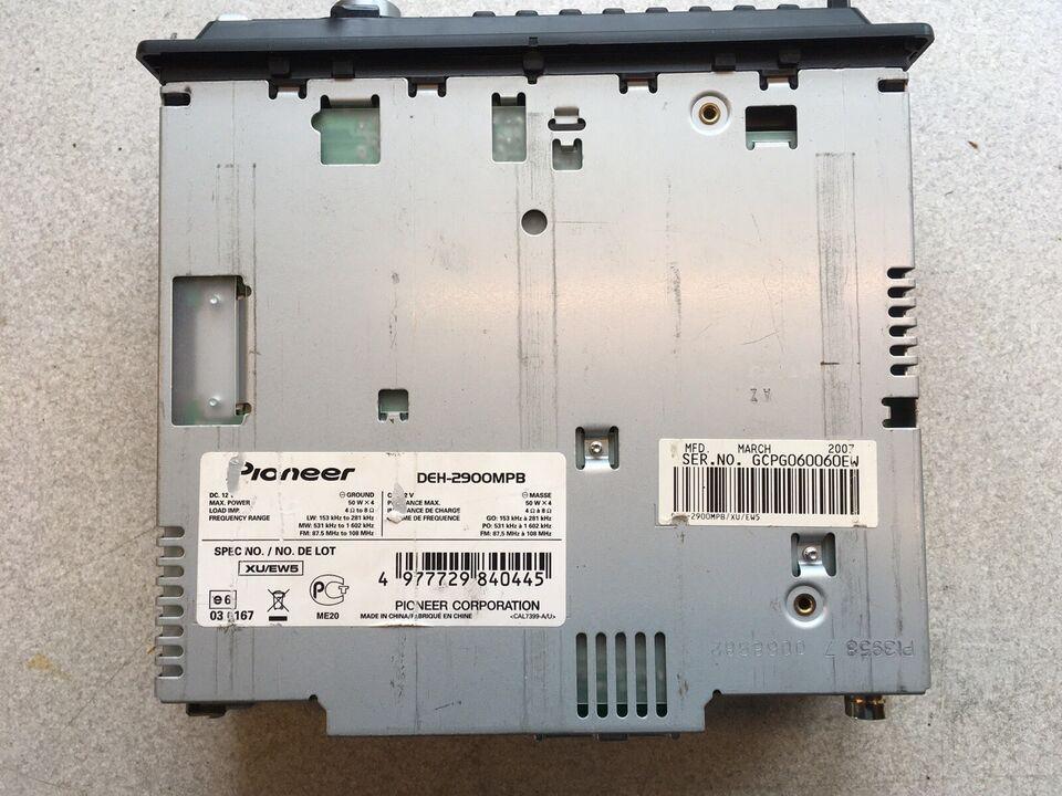 Pioneer DEH-2900MPB, CD/Radio