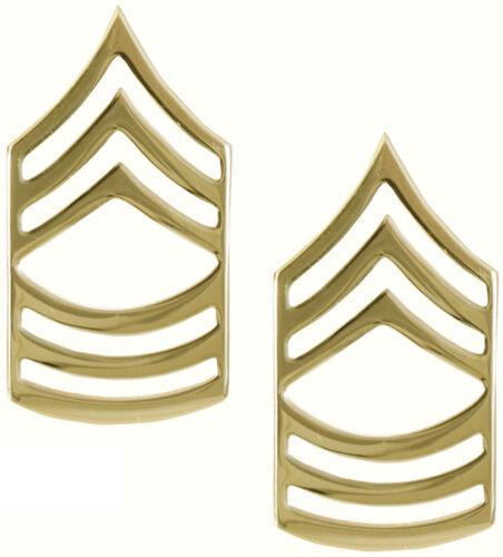 USA Made Gold Polished Military Pin On Rank Insignia Set