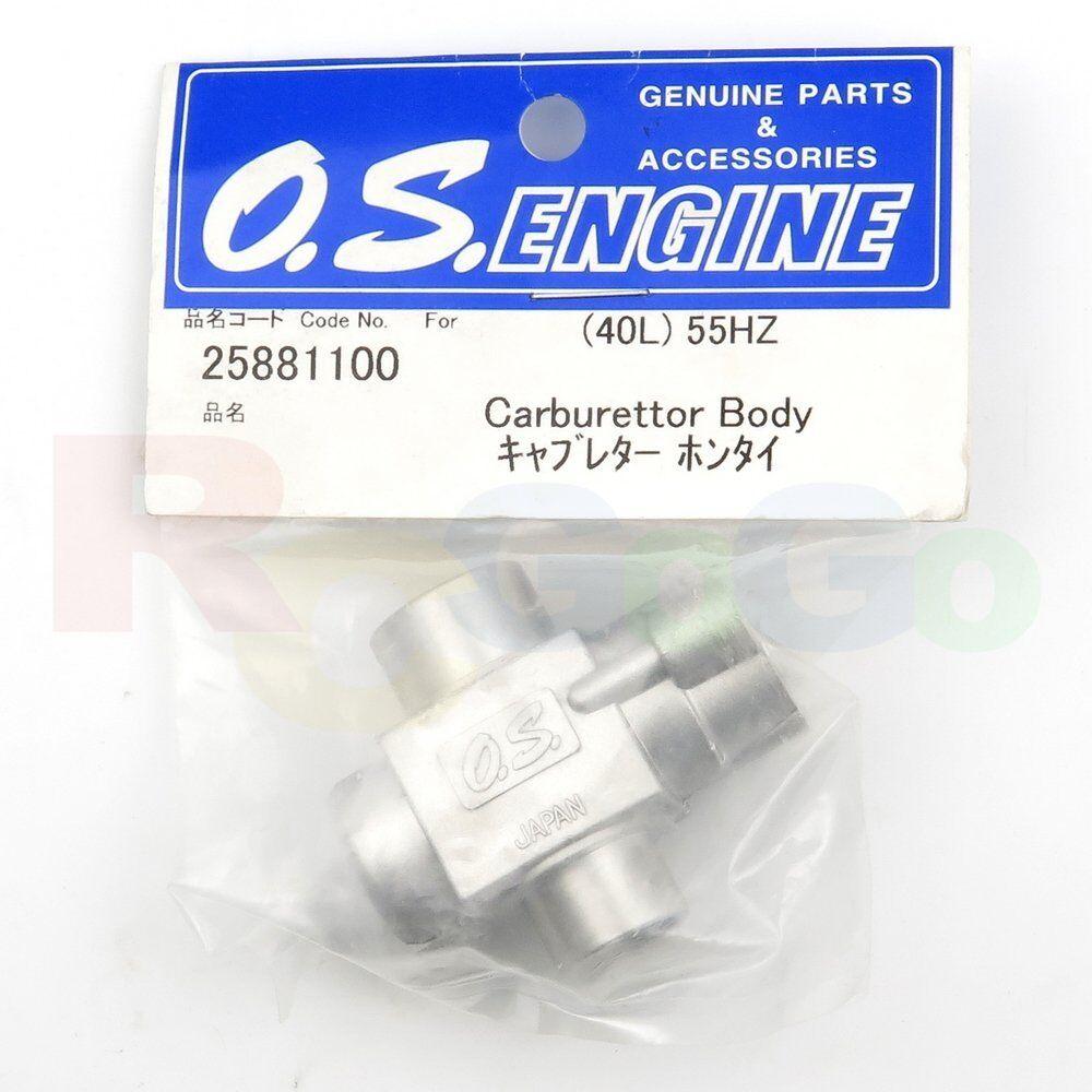 CARBURETOR BODY 40L 55HZ   OS25881100 O.S. Engines Genuine Parts