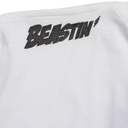 white 0281 $35.00 Beastin Top Billin Tee