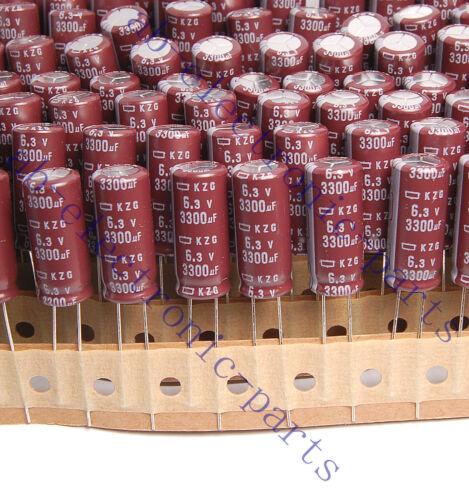 10pcs 3300uf 6.3v NCC Radial Electrolytic Capacitor Super Low ESR 6.3v3300uf