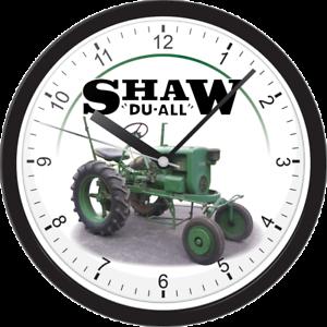 Shaw Du all R12T GARDEN YARD TRACTOR LARGE BLACK WALL HANING CLOCK BATTERY