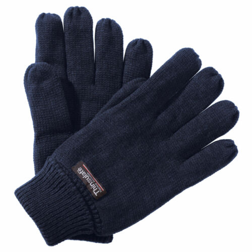 Soft Polar Fleece Thinsulate Lined Thermal Warm Winter Gloves Ladies Mens
