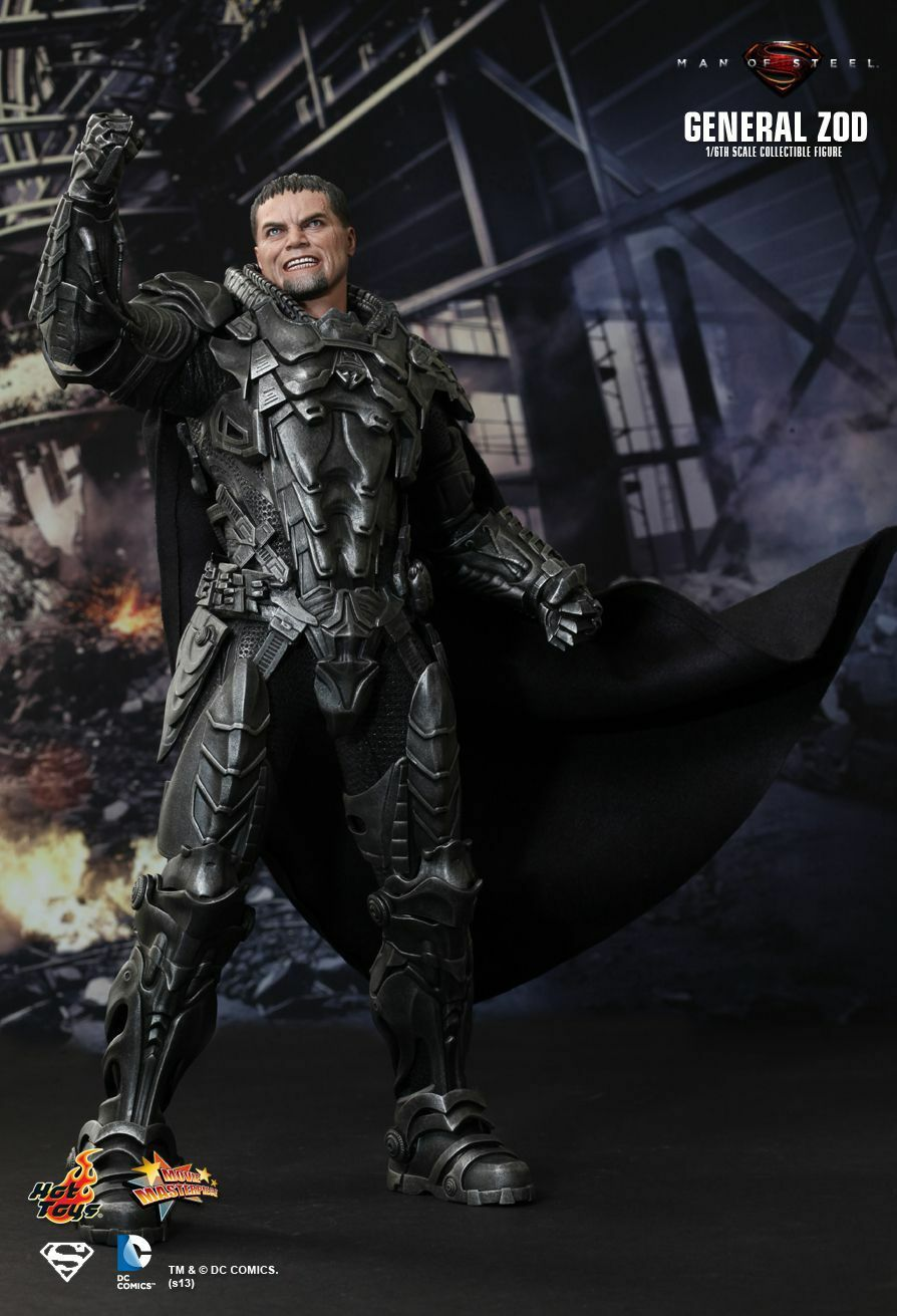 HOT TOYS MMS216 THE MAN OF STEEL GENERAL ZOD COLLECTIBLE FIGURE SHOP DISPLAYED