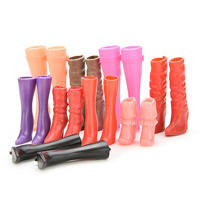8 Pairs Mix Pairs High Heels Boots Shoes For Barbie Doll Designs Vary Multicolor