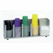 Dispense Rite Cup And Lid Organizer Five Section Stainless Steel Ctld 22