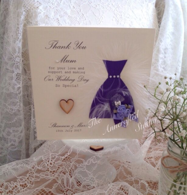 Best Man Mum /& Dad etc WB6 Personalised Wedding Thank You Card Bridesmaid