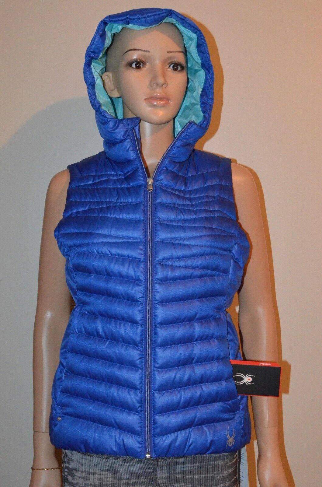 New Spyder Timeless Down Puffy Vest bluee Women's Size S MSRP  159