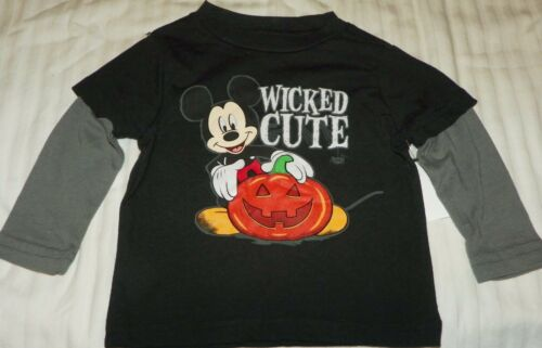 """NEW"" Disney MICKEY MOUSE Pumpkin HALLOWEEN SHIRT Infant's 12M Long Sleeve"