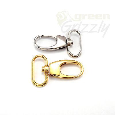 Snap Hook 10 x METAL Swivel Clip sac fermoir Trigger Clip 25 mm cerclage