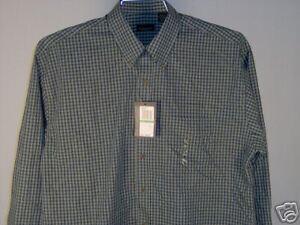 Van-Heusen-Long-Seeve-Shirt-Blue-Green-Yellow-White-L-Men-039-s-Clothing-New