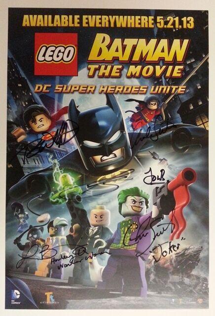 WonderCon 2013 EXCL Batman The Movie LEGO Poster print signed x 6 RARE  + Bonus