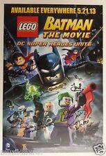 WonderCon 2013 EXCL Batman The Movie LEGO Poster print signed x 6 RARE! + Bonus