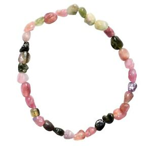 Premium-CHARGED-Natural-Rainbow-Tourmaline-Crystal-Bracelet-Stretchy-REIKI