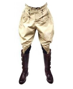 Jodhpurs-Riding-Breeches-British-Military-Khaki-Men-039-s