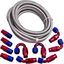 8an 20feet Ptfe Steel Braided Oil Fuel Line An8 Fittings Ends Swivel Hose Kit