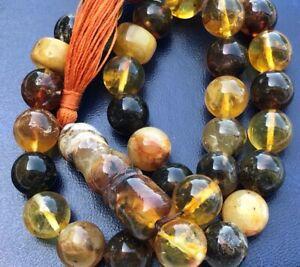 Baltic-Amber-Rosary-Islam-33-balls-Pressed-amber-ONLY-natural-raw-materialsA198