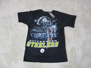 91d2ba277e3 NEW NFL Pittsburgh Steelers Shirt Adult Medium Black Yellow Football ...