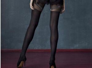 Collant sexy noir fantaisie imitation bas femme 40 DEN FIORE ROCKET ... f587fd8e53b