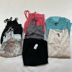 Lot-Of-SEVEN-sIze-M-Maurices-Items-1-NWT-Skirt-2-Blouses-4-Strappy-Tanks