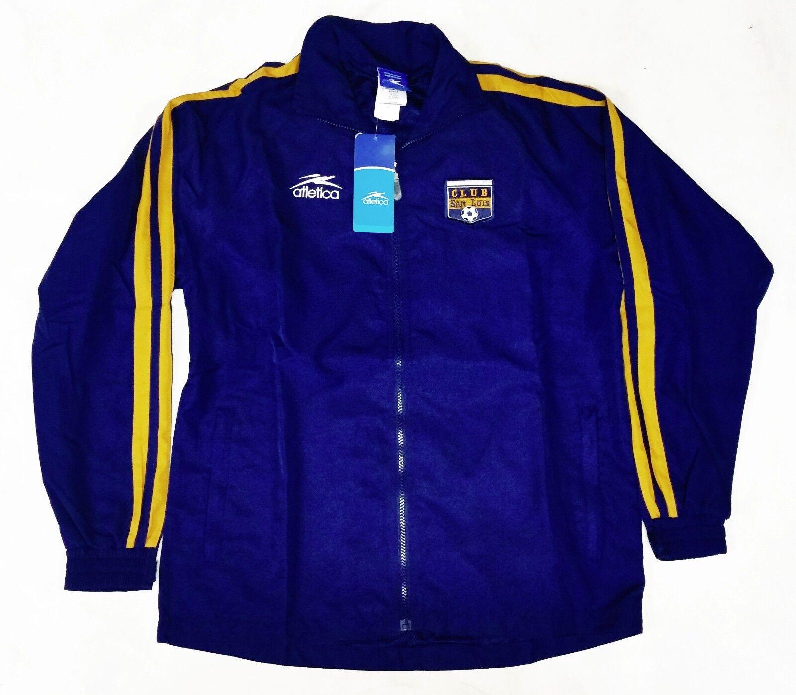 Club San Luis oficial de viaje Suite Pantalones Atletica (chaqueta y pantalones) cremallera nuevo con etiquetas
