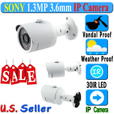 "IP Camera 720P 1.3MP 1/3"" SONY 30 IR Vandal Outdoor Weather Proof CCTV Camera"