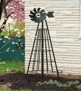 Image Is Loading Yard Windmill Decor Garden Obelisk Rustic 6 Foot