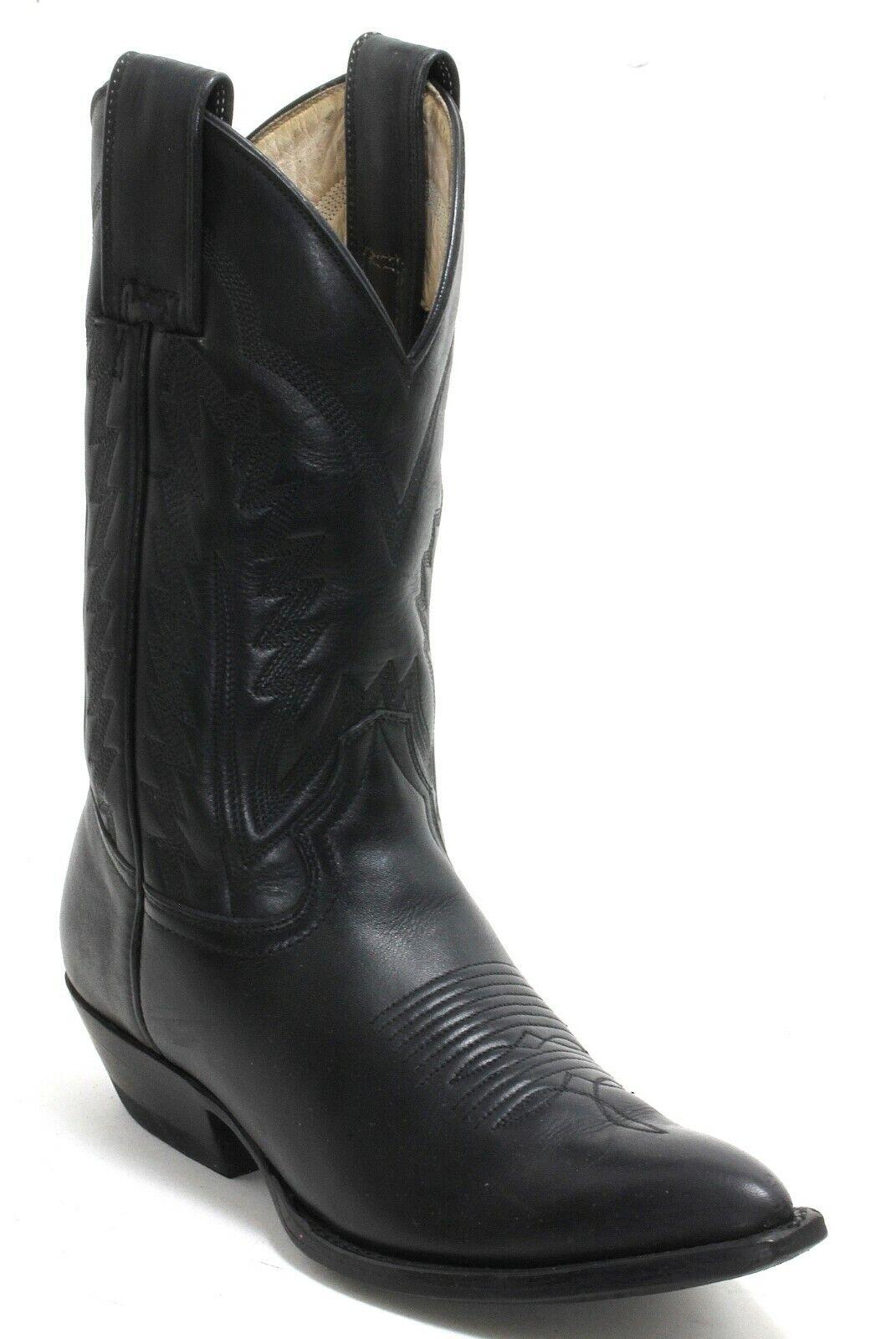 Western bottes bottes De Cowboy catalan Style Line Dance Montana Mexique noir 36,5