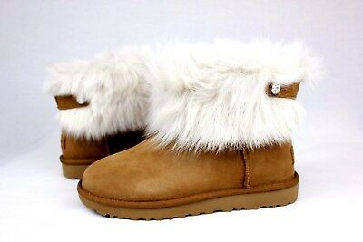 9abc1dd4ae1 UGG WOMENS VALENTINA TOSCANA BLING SUEDE CHESTNUT COLOR SIZE 7 US ...
