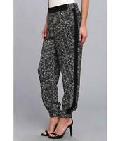 Nydj Not Your Daughter's Jeans Printed Track Pants Black/white Size Medium