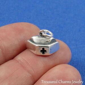 925-Sterling-Silver-NURSE-HAT-CHARM-Nurses-RN-Medical-Cap-PENDANT