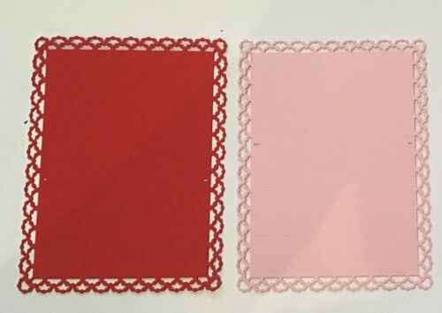 6 Lace Rectangle Scrap booking Mats//Album Decor Card Toppers Mat