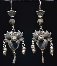FRIDA KAHLO VINTAGE STYLE TAXCO MEXICAN 925 SILVER LOVE BIRDS EARRINGS JEWELRY