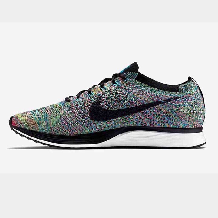 Nike Flyknit Racer 2.0 Multicolor Rainbow US 7.5 New With Box