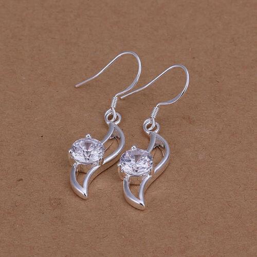 Creolen aretes creole aretes de plata chapados elegante Modern señora 925