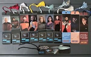 STAR TREK: THE NEXT GENERATION: (11) INDIVIDUAL CHARACTER BOOKMARKS WITH TASSELS