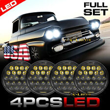 4x 575 5 34 Round Led Headlights Halo For Chevy Gmc Corvette C1 C2 1963 1982 Fits 1972 Charger