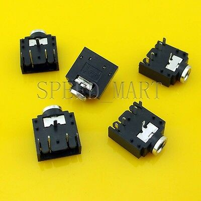 5pcs 3.5mm Female 5 Pins Stereo Headset Interior PCB Mount Audio Jack Socket