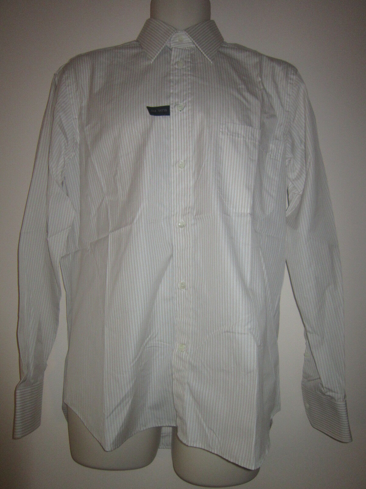 NWOT CANALI Dress Shirt Slim Fit Long Sleeve Cotton Made in  Sz 15   38