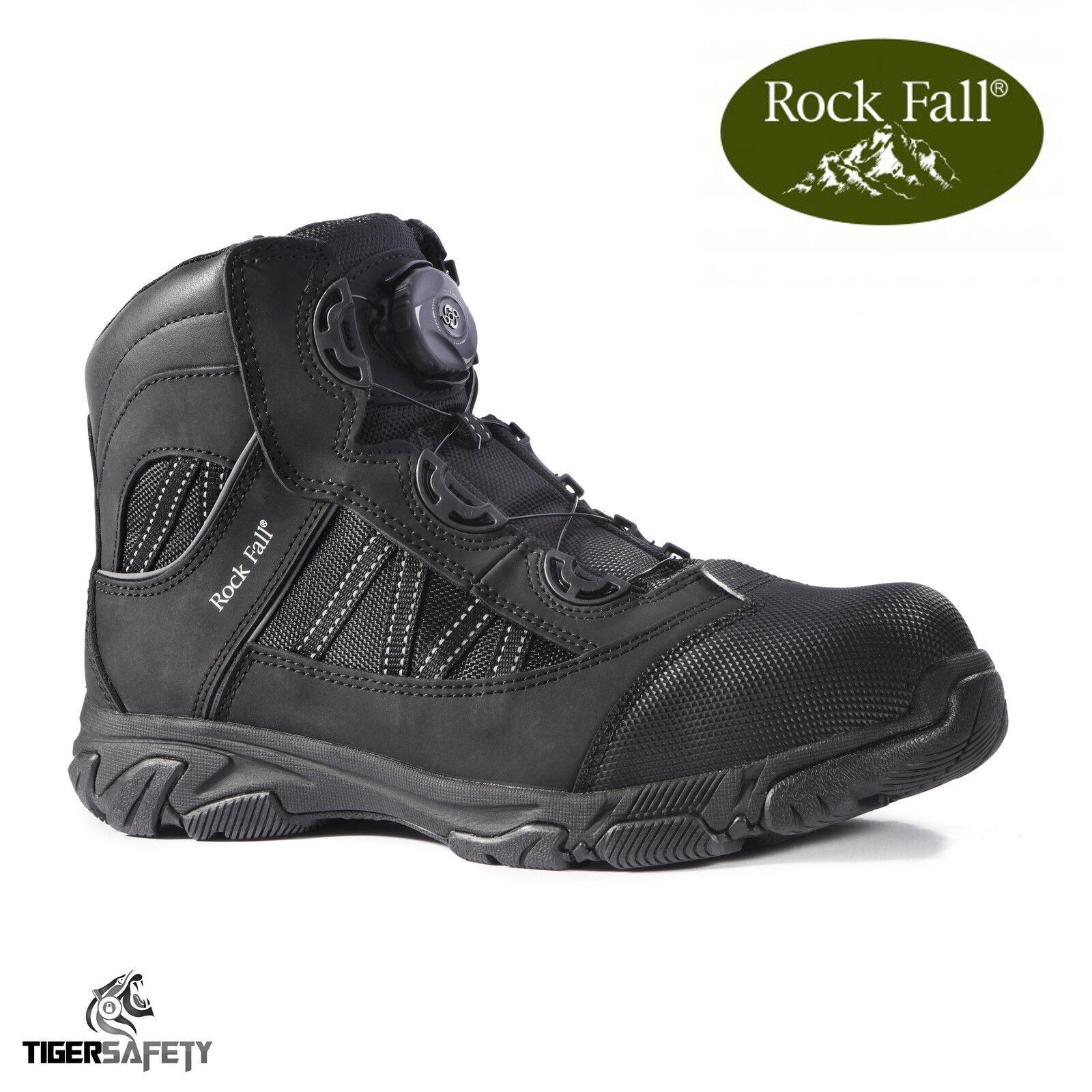 Rock Fall Ohm RF160 SB SRC EH Noir Electrical Hazard Boa Dentelle Bottes De Sécurité PPE