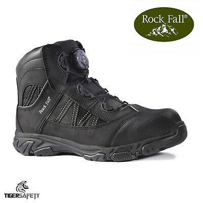 Rock Fall Ohm Rf160 Sb Src Eh Nero Electrical Hazard Boa Pizzo Stivali Di Sicurezza Ppe-mostra Il Titolo Originale