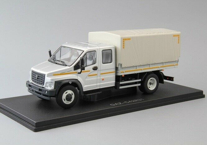 Nash Avtoprom (NAP) 1 43. GAZ NEXT C42R31 Flatbed Truck With Tent.